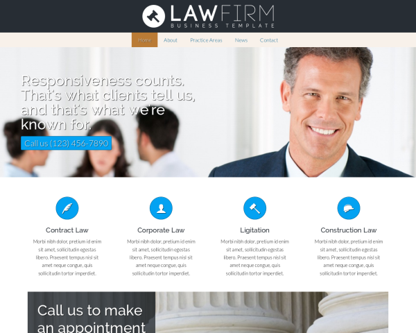 anwaltskanzlei webdesign