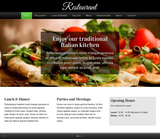 restaurant webdesign1
